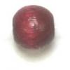 Wooden Bead Round 6mm Wine